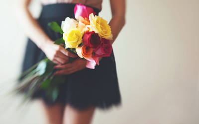 Girl-flowers-mood-hd-wallpaper