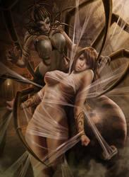 Athena and Arachne by NinjArt1st