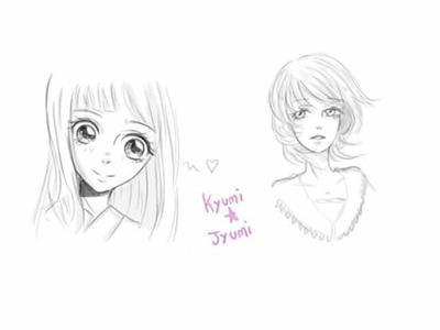 boceto de mujeres by Kyumi-Jyumi