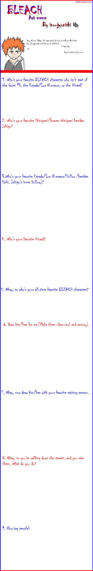 BlankTemplate BLEACH art meme by inujyunishi on deviantART