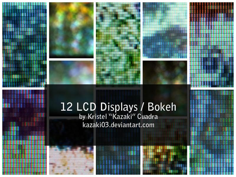 12 LCD Displays / Bokeh by kazaki03