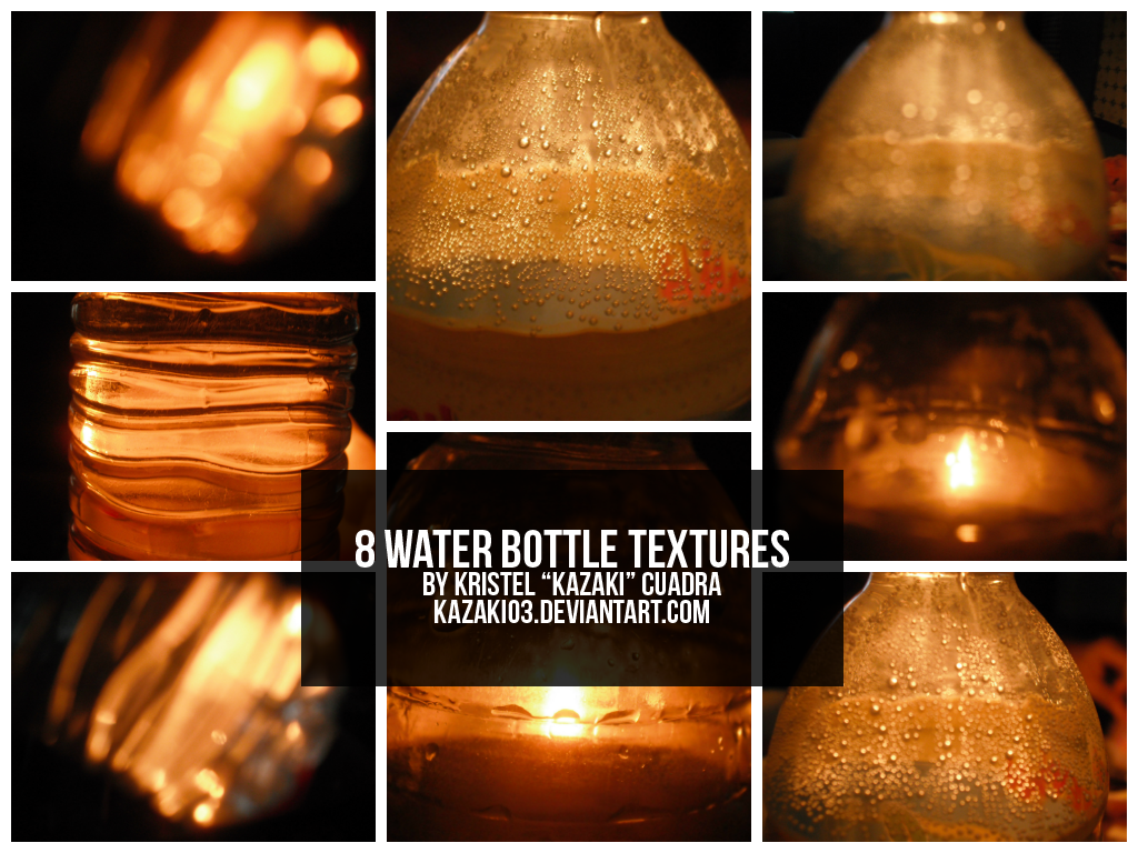 8 Water Bottle Textures by kazaki03