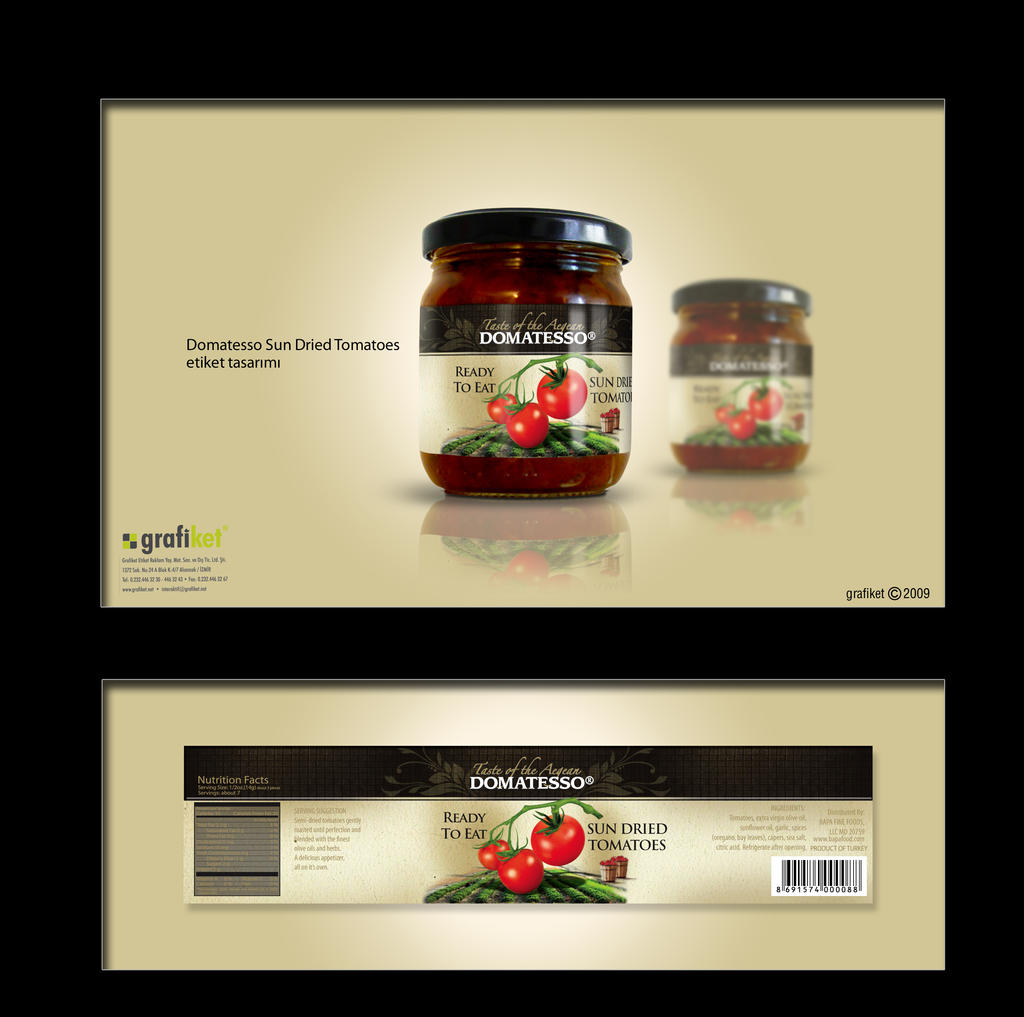 domatesso label design by grafiket