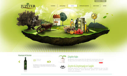 Jupiter WebDesign Interface by grafiket