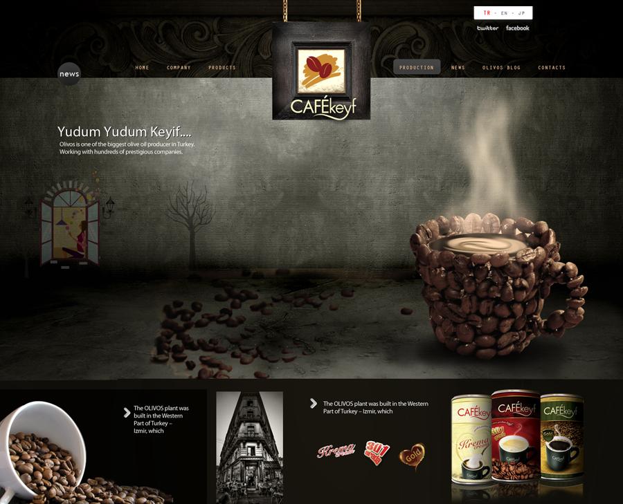 Cafekeyf Website Concept by grafiket