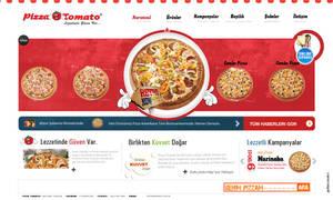 Pizza Tomato Web Concept