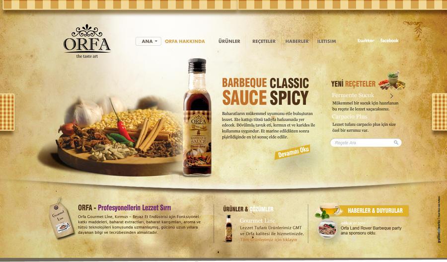 Orfa - The Taste Art Website by grafiket