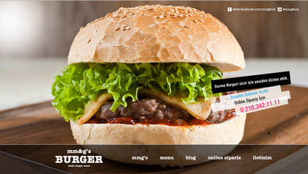 Mmg's Burger Web Concept