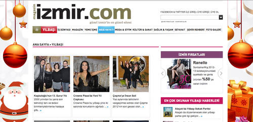 Magazinizmir new year page by grafiket