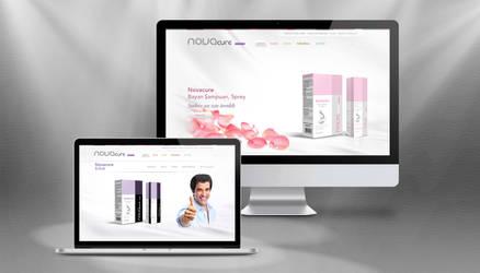 Novacure Cosmetics Website Concept by grafiket