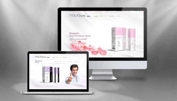 Novacure Cosmetics Website Concept