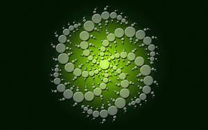 Crop Circle I,  Green by Rasa13