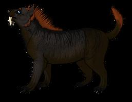Pama the Smilodon Fatalis by Weird0Freak