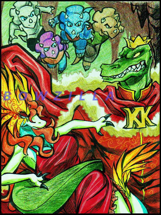 King and Eva -illustration- by Bowzilla