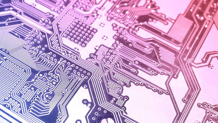 Techno Circuit Board Wallpaper