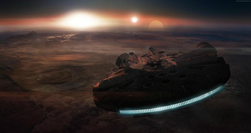 Star Wars Millennium Falcon Wallpaper Ep Vii By Iambenjaminwild On Deviantart