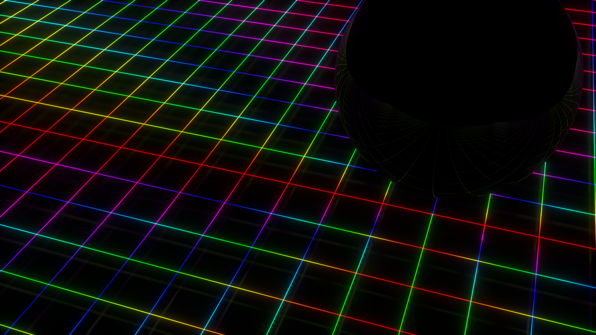 Neon Grid with Mirror Ball. by 16777216