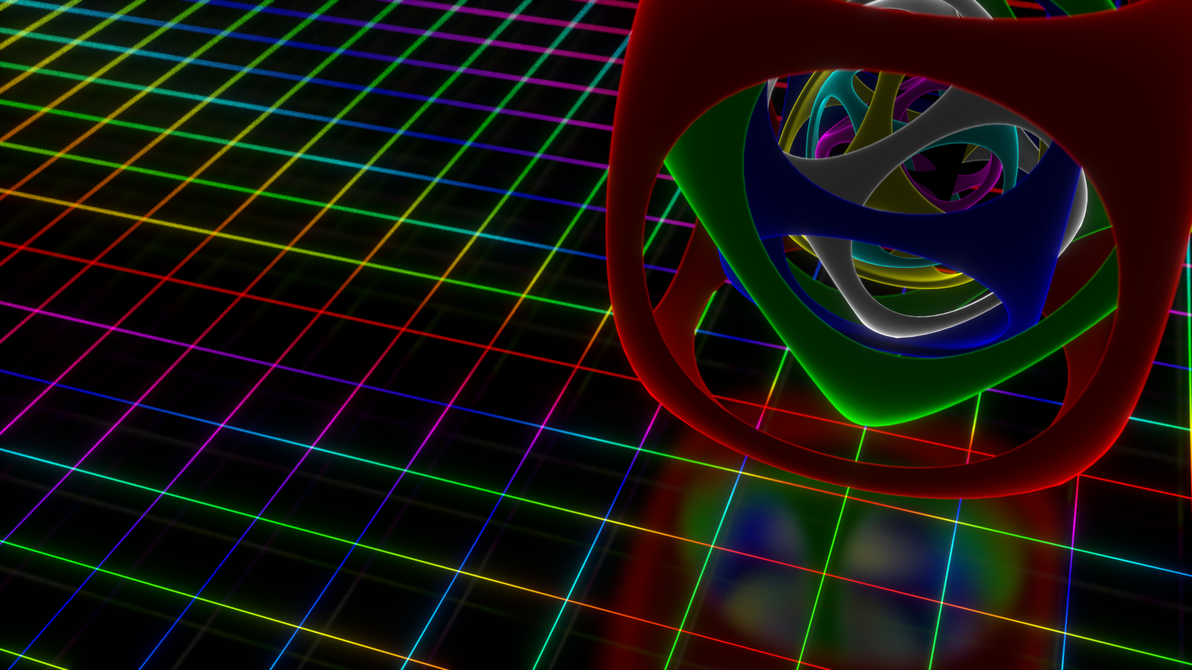 Neon Grid with Nested object. by 16777216