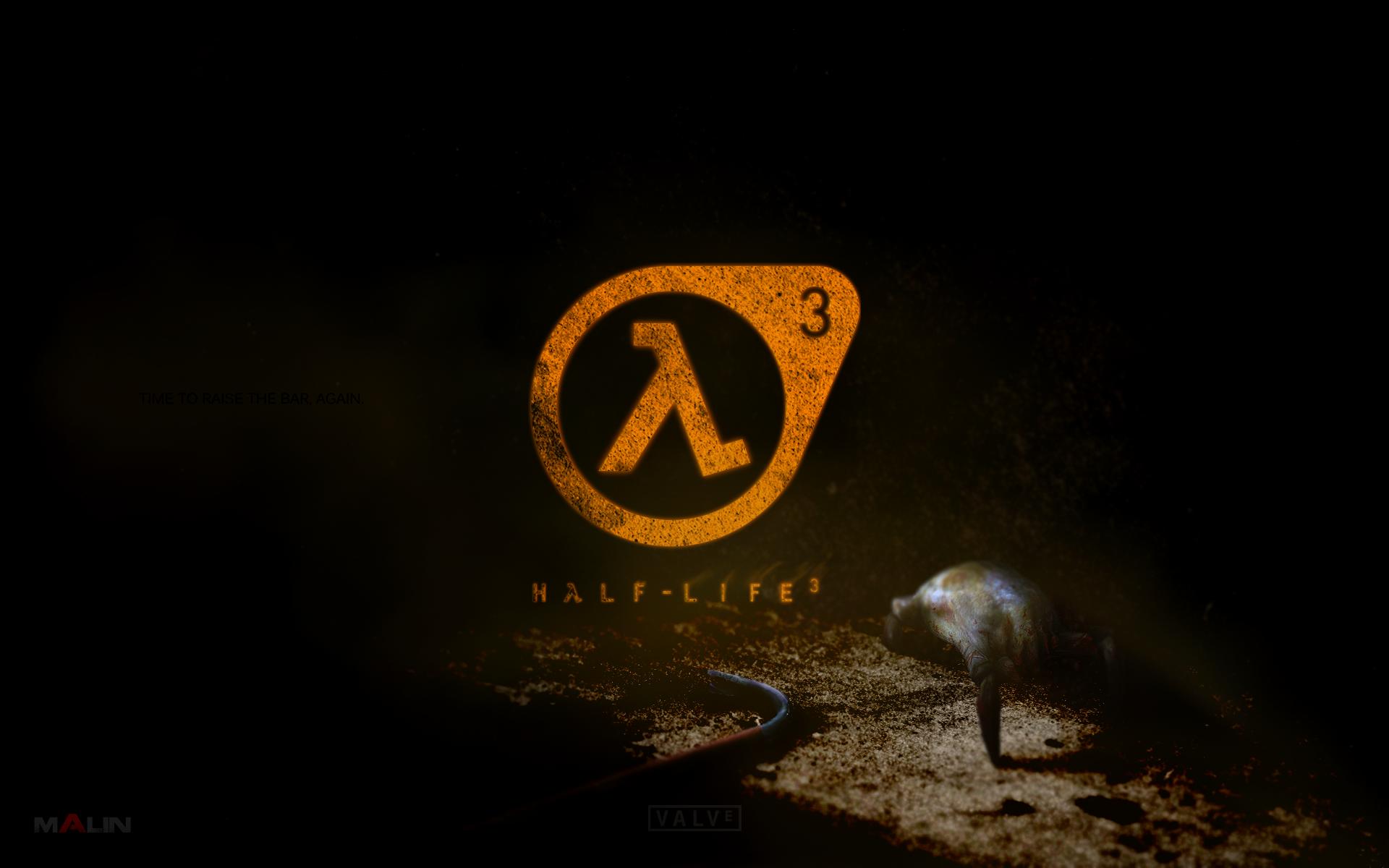 Half-Life 3 Logo with Headcrab 16:10 wallpaper