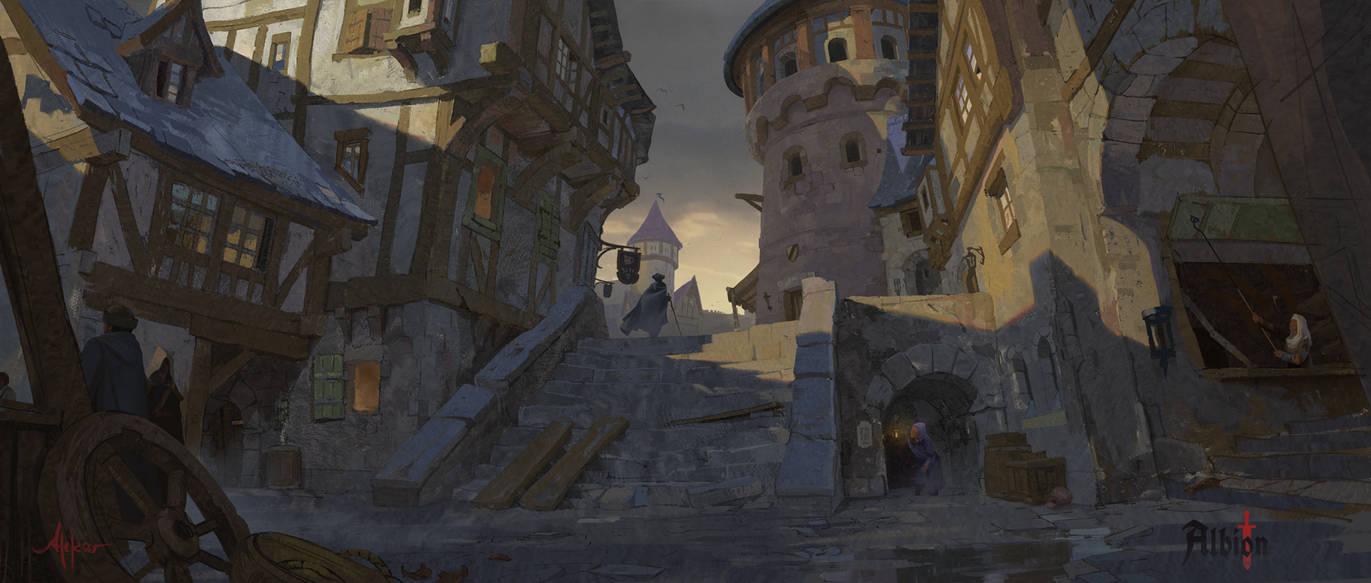 Albion Online - Inside Caerleon by memod
