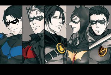 batfamily by poorbird
