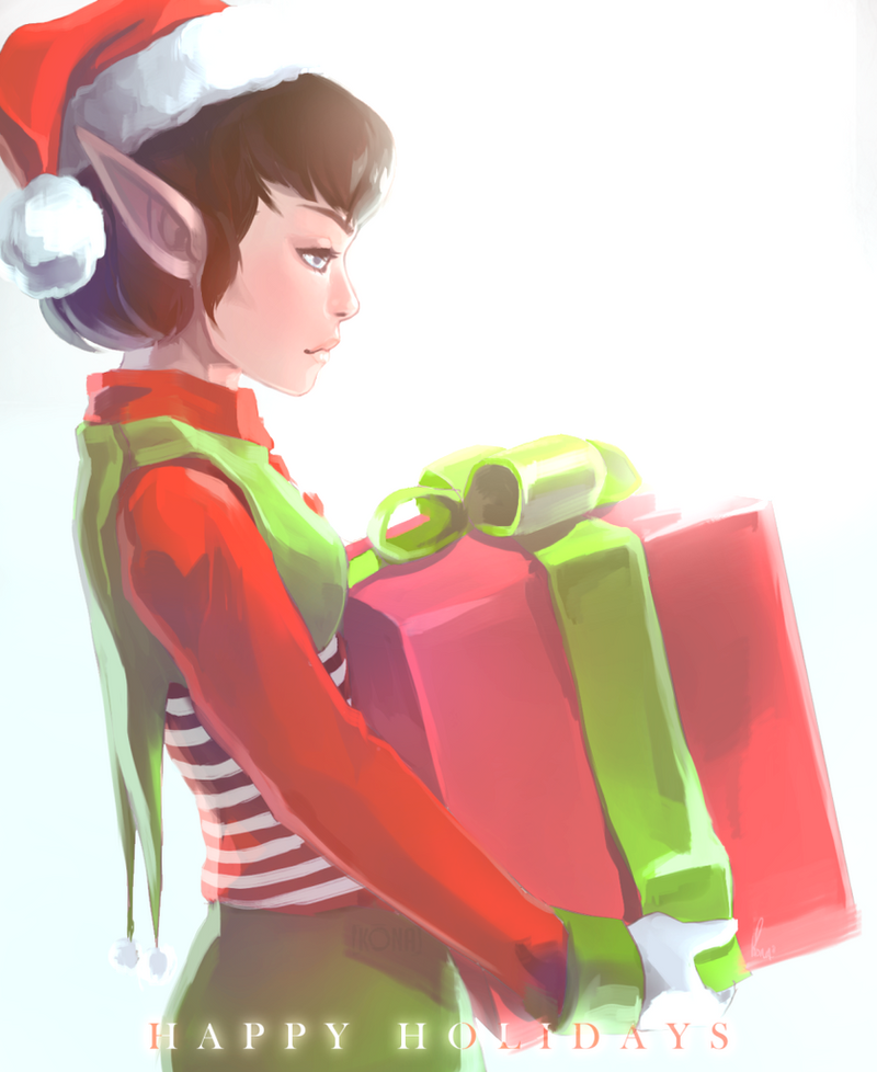 holiday elf by k-Ona