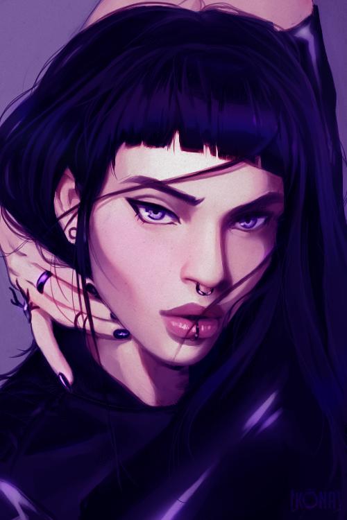 Random portrait study by k-Ona
