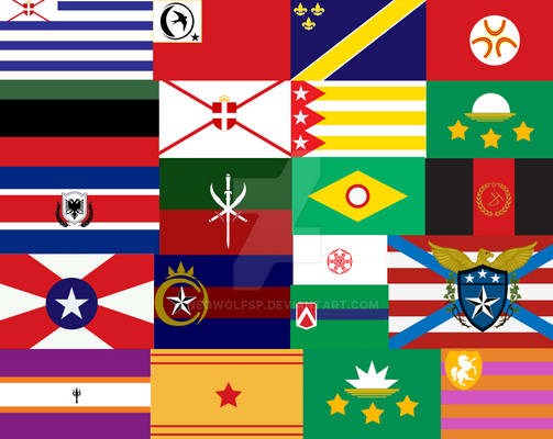 Fictional Flag Collage