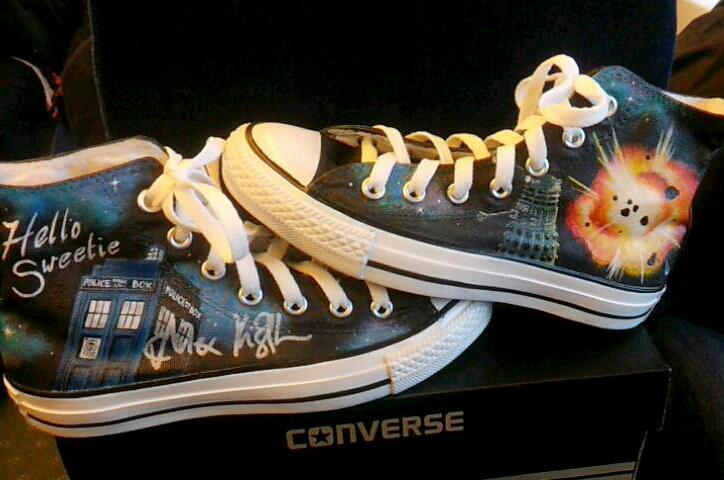Dr Who Shoes - Signed by River Song by GamerGirl84244