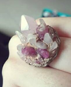 Artificial Crystal Cluster Ring by GamerGirl84244
