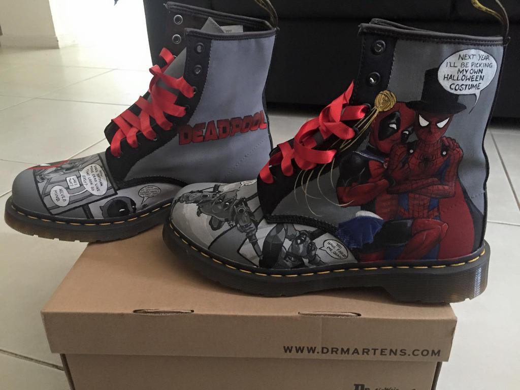 Deadpool Doc Martens 1 by GamerGirl84244