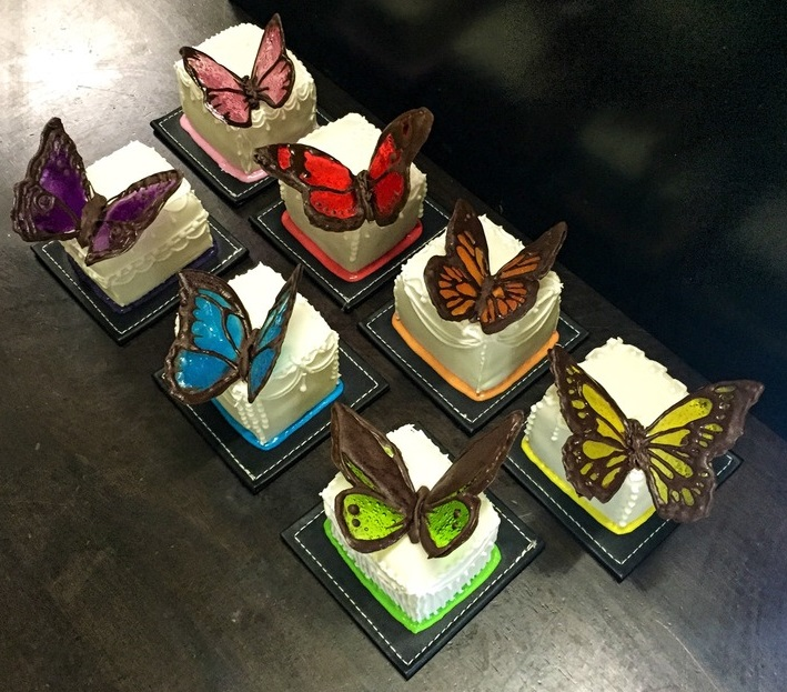 Rainbow Butterfly Mini Cakes by GamerGirl84244