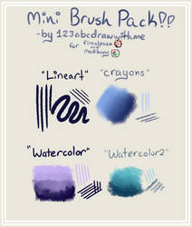 Mini Brush Pack!! (for Firealpaca and Medibang) by 123abcdrawwithme
