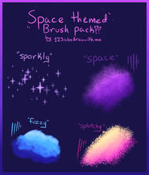 Space Brush Pack (Firealpaca/Medibang) by 123abcdrawwithme