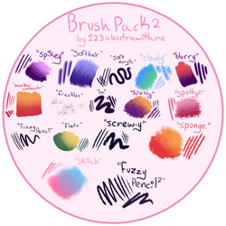 Brush Pack 2 (Firealpaca/Medibang) by 123abcdrawwithme
