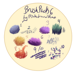 Brush pack 6 |(Firealpaca/Medibang) by 123abcdrawwithme