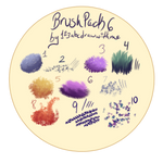 Brush pack 6  (Firealpaca/Medibang) by 123abcdrawwithme