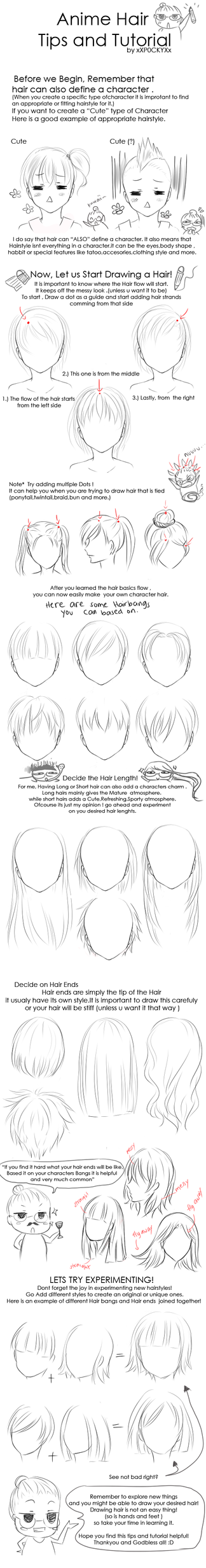 Anime Hair Tips and Tutorial by xXP0CKYXx