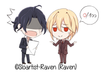 Holmes and Moriarty (Chibis) - Failed Math Test