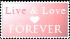 Live + Love Stamp