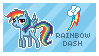 Rainbow Dash Stamp by Mel-Rosey