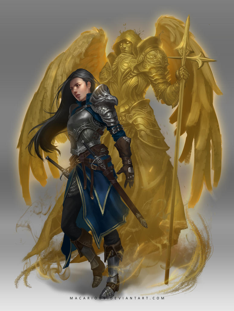 holy warrior : character design by macarious on DeviantArt