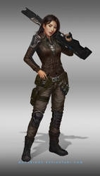 rebellion female soldier : character design
