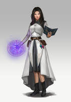 white wizard Raven by macarious