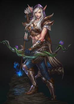 elf archer character design