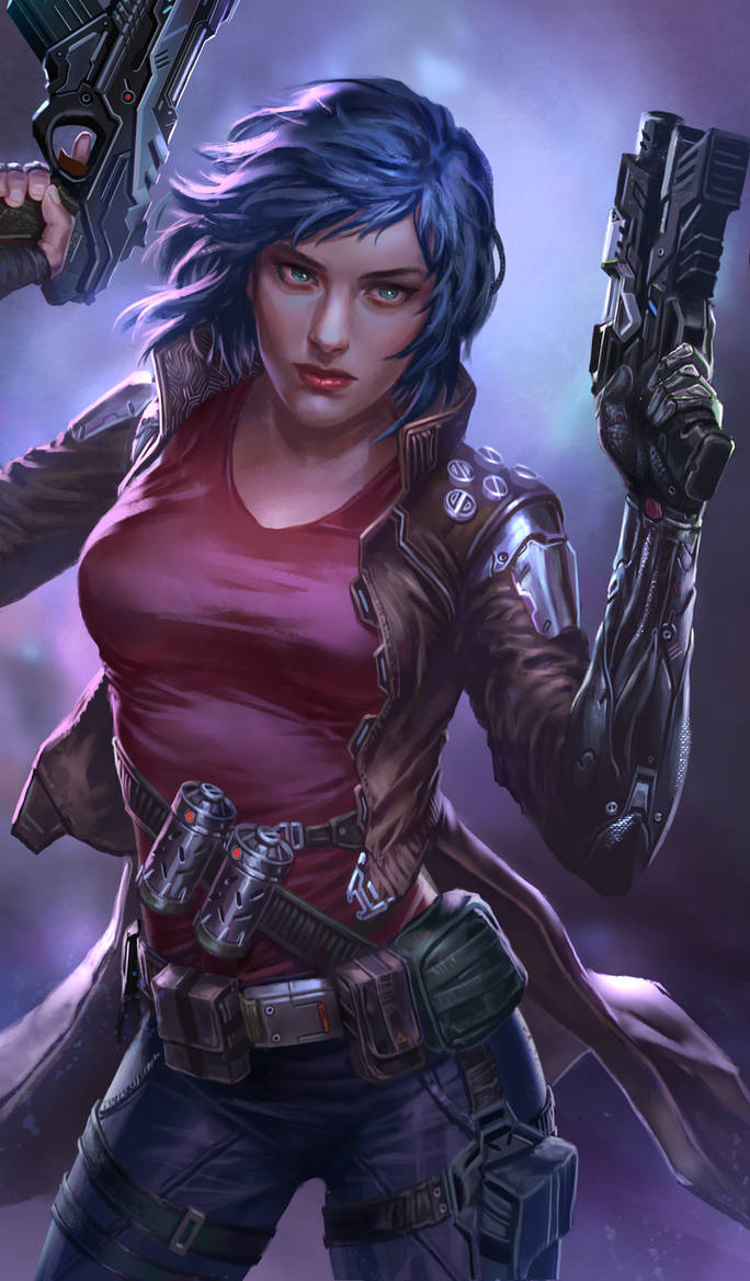 scifi gunslinger