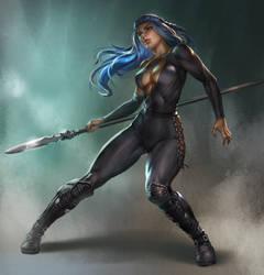 spear wielder female fighter