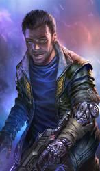 Chiper- cyberpunk male Rogue