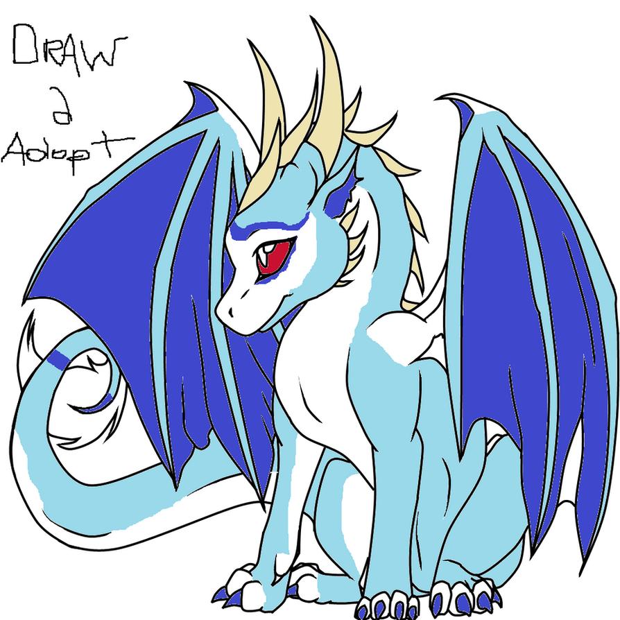 baby ice dragon by brokenwingadopts on deviantart