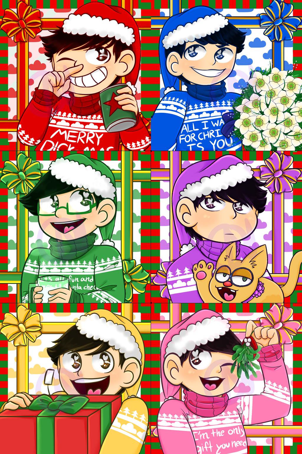 Osomatsu-san Christmas Icons by DCDr34m3r on DeviantArt